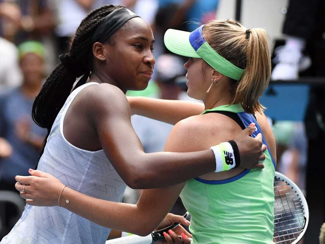 Image result for Sofia Kenin dumps Coco Gauff out of Australian open