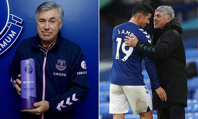Everton boss Carlo Ancelotti named as September's Manager of the Month  | Tell My Sport
